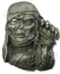 3D EGYPTIAN MUMMY BELT BUCKLE + display stand